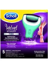 SCHOLL - Scholl Wiederaufladbarer Hornhautentferner für Trocken-/Nassgebrauc »Velvet Smooth Wet&Dry Pedi«, grün, türkis - Füße