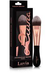 Luvia Cosmetics Foundationpinsel »Vegan Signature - VS104 Foundation«, schwarz, schwarz,roségoldfarben