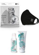 NEQI Community-Maske, Set, 3-teilig, inkl. feuchtigkeitsspendende Handseife und Handreinigungsgel