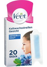 Veet Haarentfernung Warm- & Kaltwachs Gesicht Präzisionskaltwachsstreifen Sensible Haut 20 Stk.