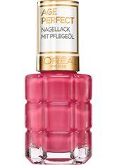 L'ORÉAL PARIS - L'ORÉAL PARIS Nagellack »Age Perfect«, Mit Pflegeöl, rosa, 224 Rose Ballet - NAGELLACK