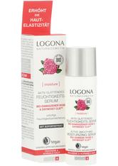 Logona Moinsture Lift Aktiv Glättendes Feuchtigkeitsserum Bio-Damaszener Rose Anti-Aging Pflege 30.0 ml