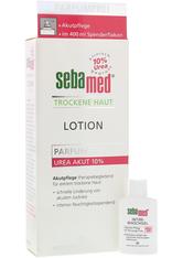 SEBAMED Trockene Haut Parfumfrei Lotion Urea 10% +gratis SEBAMED Intim Waschgel pH 3,8 für die junge Frau Probe (20ml) 400 Milliliter