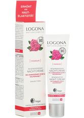 Logona Moinsture Lift Regenerierende Nachtcreme Bio-Damaszener Rose Gesichtscreme 30.0 ml