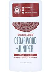 SCHMIDT'S DEODORANT - Schmidt's Deodorant Cedarwood Juniper Stick 75 Gramm - ROLL-ON DEO