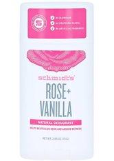 SCHMIDT'S DEODORANT - Schmidt's Deodorant Rose Vanilla Stick 75 Gramm - DEODORANTS