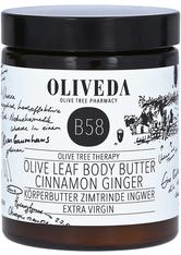Oliveda B58 Körperbutter Zimtrinde Ingwer - Extra Virgin 180 Milliliter