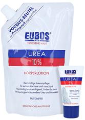 Eubos Trockene HAUT Urea 10% Körperlotion + gratis Eubos Handcreme 5% Urea 25 ml 400 Milliliter
