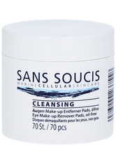 SANS SOUCIS - Sans Soucis Cleansing Eye Make up Remover Pads ölfrei 70 Stk. Augenmake-up Entferner - Makeup Entferner