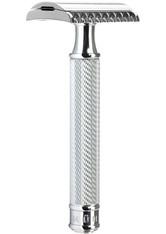 MÜHLE - MÜHLE Rasierhobel offener Kamm R41 Griff aus Metall mit verchromten Metallakzenten - RASIER TOOLS