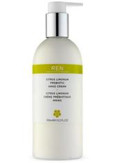 REN - REN Citrus Limonum Prebiotic Handcreme (300 ml) - HÄNDE