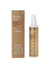 KORRES - KORRES Red Grape Sunscreen Body Oil SPF 20 - SONNENCREME