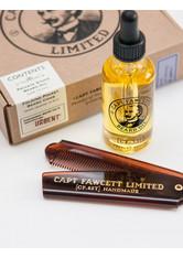 CAPTAIN FAWCETT'S - Captain Fawcett's Private Stock Beard Oil and Comb Set 1 stk - BARTPFLEGE