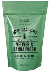 THE SCOTTISH FINE SOAP COMPANY - Scottish Fine Soaps Vetiver & Sandalwood Mineral Bath Soak 500 g - SEIFE