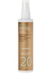 KORRES - Korres Pflege Sonnenpflege Red Grape Sunscreen Dry Body Oil SPF 20 100 ml - SONNENCREME