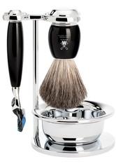 Mühle Produkte VIVO - 4-tlg. Rasierset  Gillette® Fusion Edelharz schwarz Rasiergel 1.0 pieces