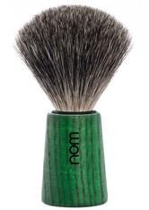 NOM - nom Produkte Rasierpinsel THEO reines Dachshaar Green Ash Rasierpinsel 1.0 st - RASIER TOOLS