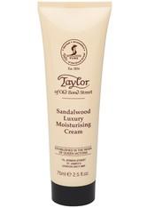 Taylor of old Bond Street Herrenpflege Sandelholz-Serie Luxury Sandalwood Moisturising Cream 75 ml