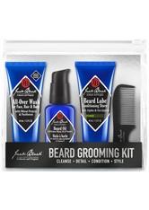 Jack Black Beard Grooming Kit (Beard Wash 44mL, Beard Oil 30 mL, Beard Lupe Conditioning Shave 44 mL, Bartkamm) Bartpflegeset