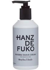 HANZ DE FUKO - Hanz de Fuko Gesichtspflege Hanz de Fuko Gesichtspflege Invisible Shave Cream Rasiercreme 237.0 ml - Rasierschaum & Creme