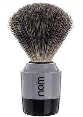 NOM - nom Produkte Rasierpinsel MARTEN reines Dachshaar Black/Grey Rasierpinsel 1.0 st - RASIER TOOLS
