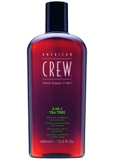 American Crew Haarpflege Hair & Body 3 in 1 Tea Tree Shampoo, Conditioner & Body Wash 450 ml