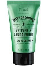 THE SCOTTISH FINE SOAP COMPANY - Scottish Fine Soaps Vetiver & Sandalwood Shave Cream 150 ml - RASIERSCHAUM & CREME