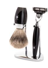 Mühle Produkte KOSMO 3-tlg. Dachshaar Rasier-Set Edelharz  schwarz Gillette® Mach3® Rasiergel 1.0 pieces