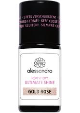alessandro International Ultimate Shine Non Sticky mit Glitter Gold Rose 7,5 ml