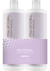 Aktion - Paul Mitchell Clean Beauty Repair 2 x 1000 ml Haarpflegeset