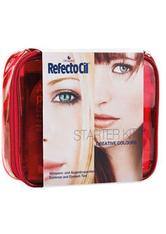 REFECTOCIL - RefectoCil Augen Augenbrauen Creative Colours Starter Kit 1 Artist Palette + 1 Style Book + 1 RefectoCil Blonde Brow + 5 RefectoCil Farben + 1 Oxidant 3% Creme + 1 Wimpernblättchen extra (80  - Augenbrauen
