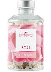 LaNature Badesalz Rose im Dekoglas 250 g