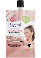 BIORÉ - Bioré Rosenquarz & Aktivkohle Stresslindernde Tonerde-Maske 50 ml Gesichtsmaske - CREMEMASKEN