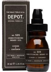 DEPOT - DEPOT 505 Conditioning Beard Oil Ginger & Cardamon 30 ml - BARTPFLEGE