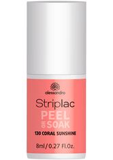 Alessandro Striplac Peel or Soak - Vegan Nagellack 8 ml Nr. 130 - Coral Sunshine