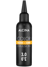 Alcina Color Gloss+Care Emulsion Haarfarbe 3.0 Dunkelbraun Haarfarbe 100 ml