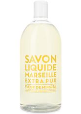 La Compagnie de Provence Savon Liquide Marseille Extra Pur Fleur de Mimosa - Refill Flüssigseife  1 L