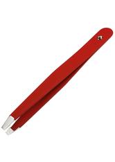Canal Haarpinzette mit Stein gerade rot 95 mm