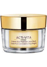 MONTEIL - Monteil Acti-Vita Gold Creme Day / Night ProCGen 50 ml Gesichtscreme - TAGESPFLEGE