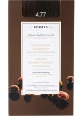 Korres Arganöl Hochentwickelte Coloration 3er Set 4.77 Schokobraun intensiv Haarfarbe