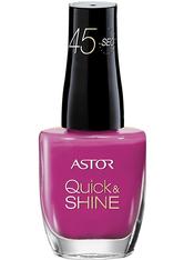 Astor Make-up Nägel Quick & Shine Nagellack Nr. 207 Viva El Pink 8 ml