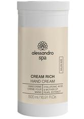 ALESSANDRO - Alessandro Spa Cream Rich Hand Cream 500 ml - HÄNDE
