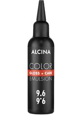 Alcina Color Gloss+Care Emulsion Haarfarbe 9.6 Lichtblond-Violett Haarfarbe 100 ml