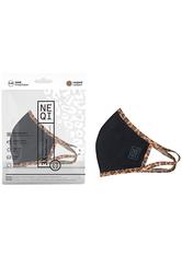 NEQI Mundschutz & Masken Face Coverings Black with Leopard Trim S - M Maske 3.0 pieces