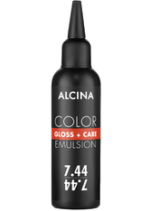 Alcina Color Gloss+Care Emulsion Haarfarbe 7.44 M.Blond Int.-Kupfer Haarfarbe 100 ml