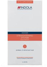 Indola Umformung Designer Silkstraight Glättungssystem 1 normal/widerstandsfähig 400 ml Haarcreme