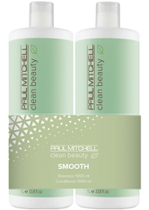 Aktion - Paul Mitchell Clean Beauty Smooth 2 x 1000 ml Haarpflegeset