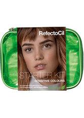 REFECTOCIL - RefectoCil Augen Augenbrauen Sensitive Starter Kit 3 Sensitive Farben + Sensitive Entwicklergel + Sensitive Tint Remover + Artist Palette + Silicne Pads & Sensitive Colour Chart Folder 1 Stk. - Haarfärbetools