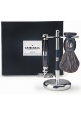 Barberians Giftbox Shaving Set - Safety Razor, Shaving Brush Pure Badger & Stand Pflegeset