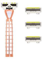 Shave Lab Damenrasierer Tres Starter Set White Edition Gold Rush P.L.6 Griff + 4 Klingen 1 Stk.